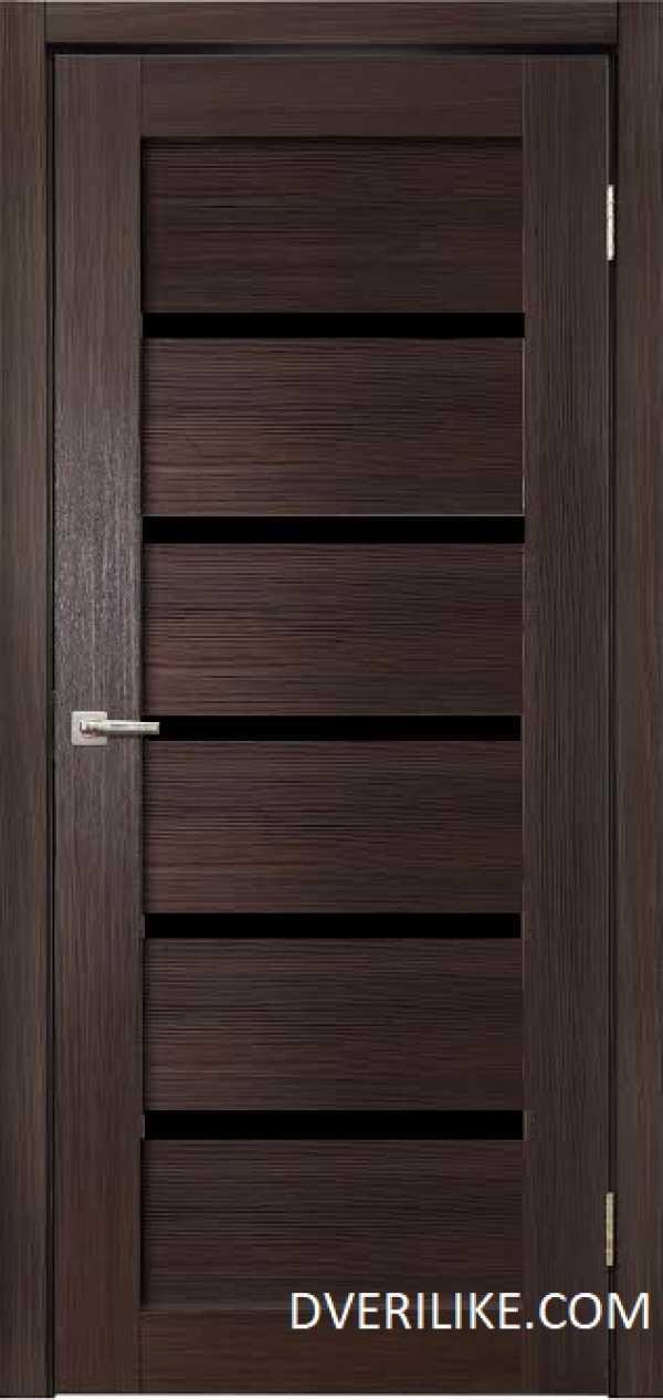 двери ДЕРА 683 черное стекло