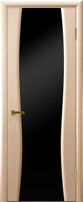 двери Диадема-3 Беленый дуб черный триплекс