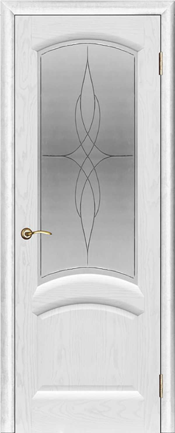 Ульяновские двери Лаура Ясень жемчужный со стеклом
