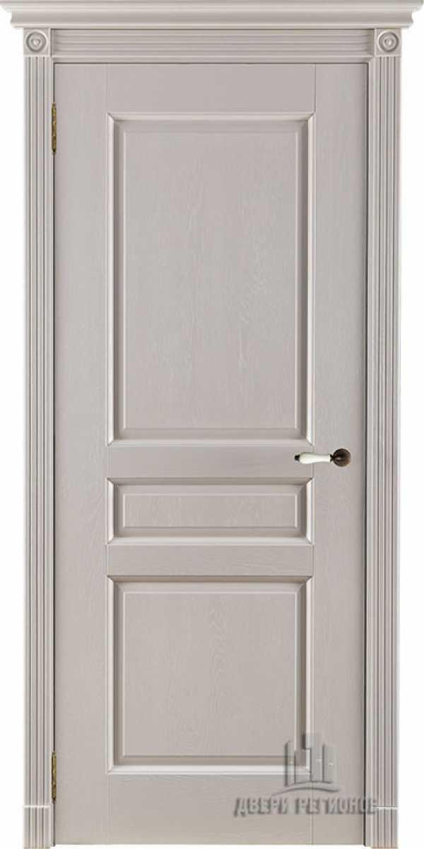 Двери Виктория слоновая кость без стекла