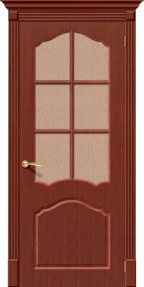 Дверь Каролина стекло ОРЕХ