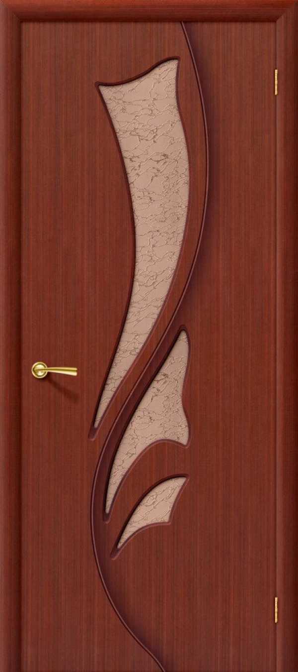 Дверь Эксклюзив стекло ОРЕХ