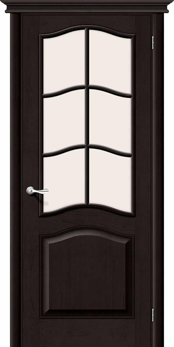 Дверь Вега М7 со стеклом ТЕМНЫЙ ЛАК