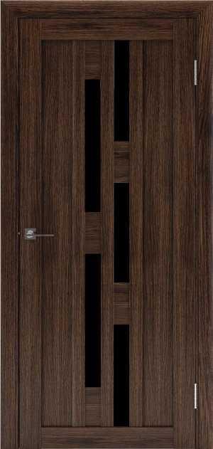 двери ДЕРА 613 черное стекло