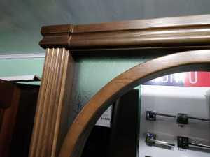 арка СОФИЯ из массива сосны со стеклом