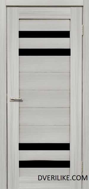 двери ДЕРА 636 черное стекло