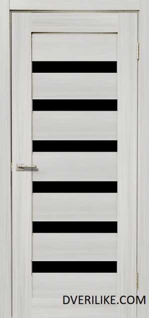 двери ДЕРА 643 черное стекло