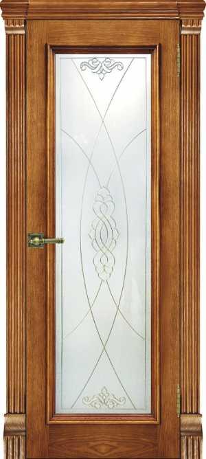 Ульяновские двери Тоскана дуб Patina Antico Витраж