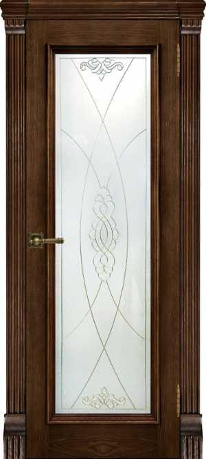 Ульяновские двери Тоскана дуб Brandy Витраж