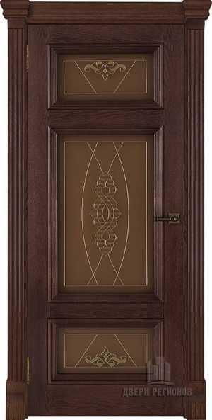 двери Мадрид дуб Brandy Витраж