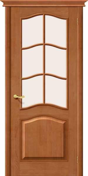 Дверь Вега М7 со стеклом СВЕТЛЫЙ ЛАК